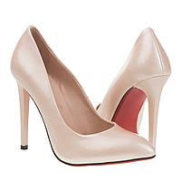 Туфли женские Christian Louboutin (пудра с позолотой, на красной подошве, стильные, классические)