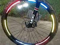 Наклейка отражатель, рефлектор на обод велосипеда