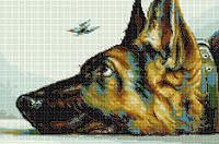 Схема для вышивки бисером «Собака»