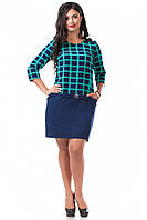 Платье Детройт (52 размер, бирюза) ТМ «PEONY»