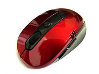Оптична бездротова миша Металік червоний червоний
