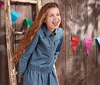 Платье джинсовое детское Tchibo Германия 146/152