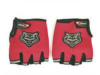 Велоперчатки рукавички чоловічі  Червоний