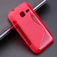 Чехол Samsung J105 / J1 mini силикон TPU S-LINE красный