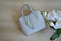 Серая сумка-шоппер из Италии