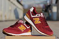 Мужские кроссовки New Balance 574 Сapen,красные / кроссовки мужские Нью Беланс 574 капен, стильные