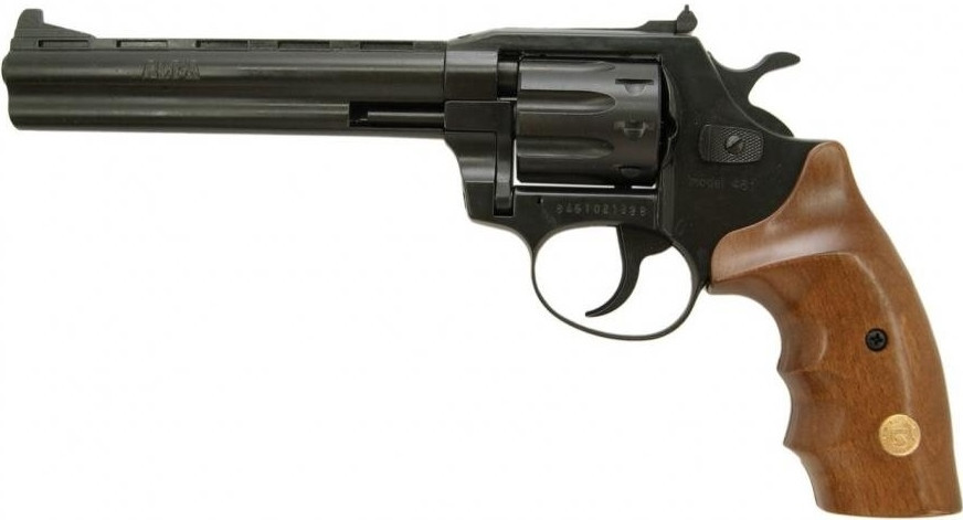 """Револьвер флобера Alfa мод 461 6"""" воронен дерево"""