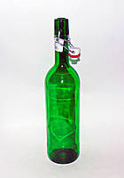 Бутылка Bordo с бугельной пробкой 0,75 литр зеленая