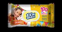 Влажные салфетки 100 % чистоты N календула, 100 шт