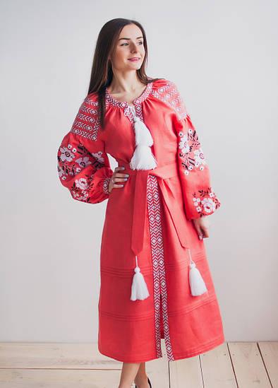 Жіноча вишита сукня Корал
