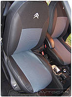 Чехлы Citroen Berlingo с 2008-  ➤ материал: экокожа с тканью System Cloth-Air