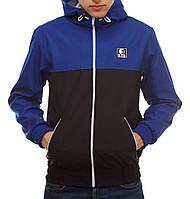 Сине-черная ветровка куртка Ястребь (опт и розница)
