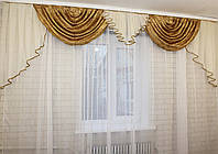"""Ламбрекен из плотной ткани """"Полина""""  Код: 063л037"""