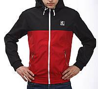 Красно-черная ветровка куртка Ястребь (опт и розница)