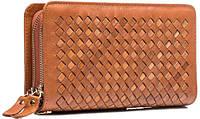 Интересный мужской кожаный клатч ручной работы TIDING BAG JN9063LB коричневый