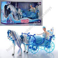 Карета с ходяченй лошадкой и куклой, музыка, свет (ОПТОМ) 223A