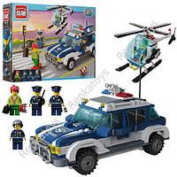 """Конструктор CITY """"Полицейская машина и вертолет"""", 394 детали, в коробке (ОПТОМ) 1117"""