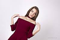 Молодежное платье с карманами БОРДОВОЕ, фото 1
