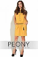 Платье Маша (52 размер, Желтый) ТМ «PEONY»