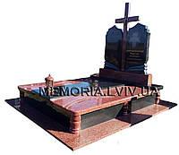Подвійний гранітний пам'ятник 2124