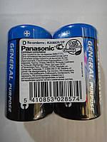 Батарейка Panasonic General Purpose R20BER/2P 2 шт и 24 шт упаковка