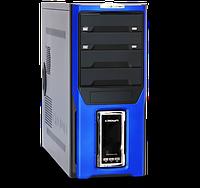 Компьютерный корпус Crown Diamond CMC-D28 Blue/LCD без БП