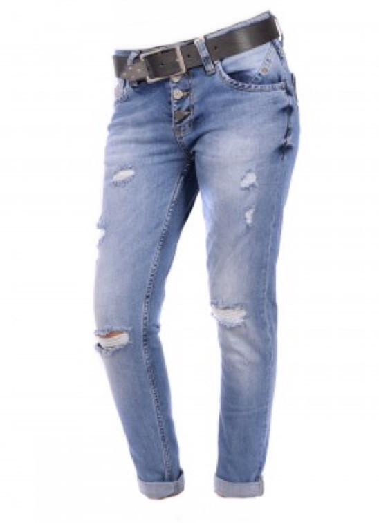 Женские джинсы узкие светлые от jass jeans JJ 051