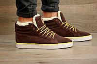 Кроссовки зимние мужские Adidas Ransom 2039 коричневые