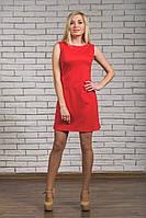 Женское платье красное