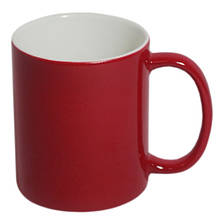 Кружка со сменой цвета темно-красная глянцевая