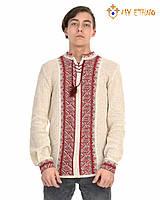 Мужская вязаная рубашка Тарас красный, фото 1