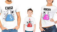 """Комплект футболок для всей семьи """"Сила+красота=я"""""""