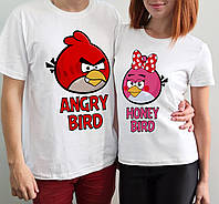 "Парные футболки ""Angry bird"""