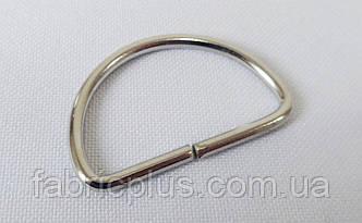 Полукольцо  30 мм  (2,20 мм(d),   15 мм(h), никель