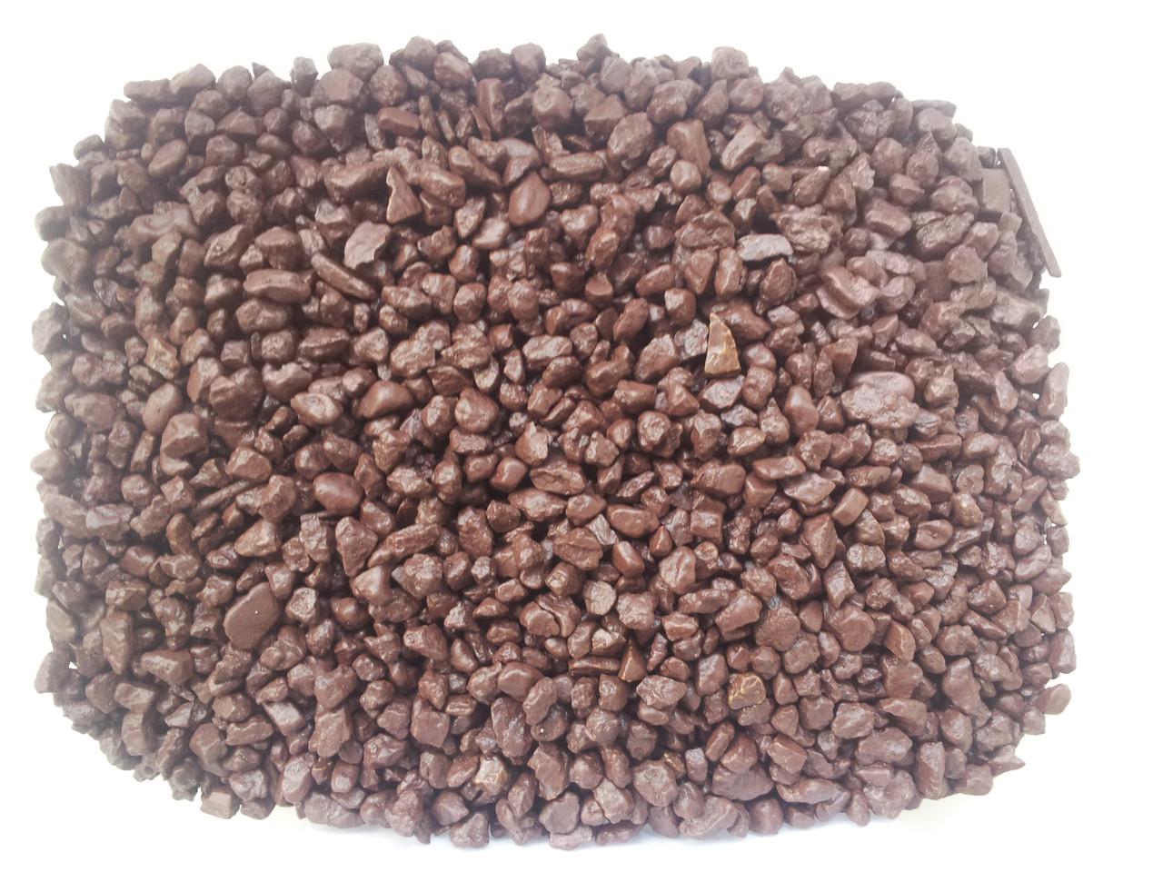 Кварцевый песок цветной V-8 (тёмно-коричневый 25 кг)