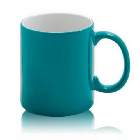 Цветная кружка хамелеон для сублимации Colour Changing Mug, зеленая