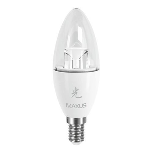 Лампа MAXUS С37 CL-C 6W 5000K 220V E14 AP