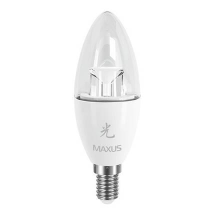 Лампа MAXUS С37 CL-C 6W 5000K 220V E14 AP, фото 2