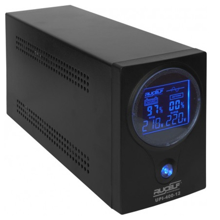 ДБЖ Rucelf UPI-400-12-EL (300Вт), для котла, чиста синусоїда, зовнішня АКБ