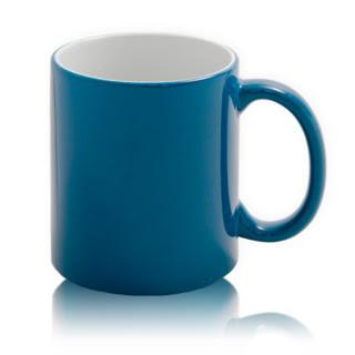 Цветная кружка хамелеон для сублимации Colour Changing Mug, синяя