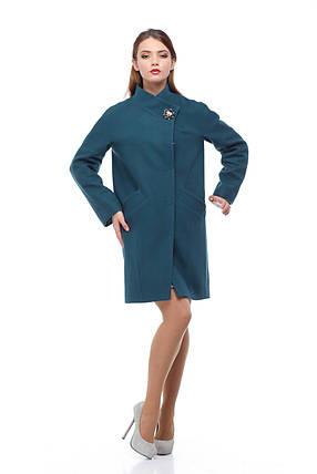 Пальто женское весна 2017 из натуральной шерсти с пряжкой, фото 2