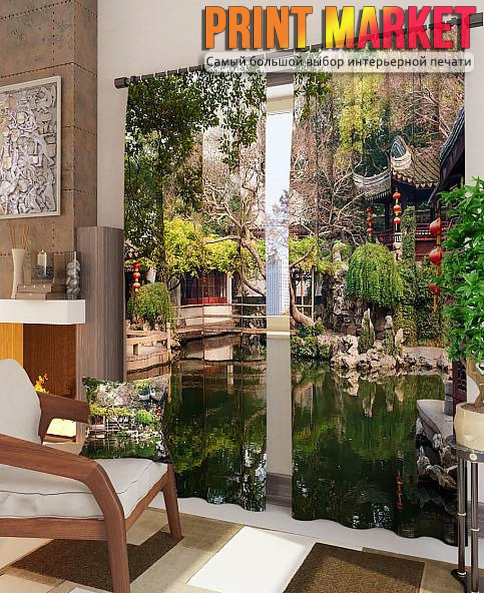Фотошторы китайский городок на воде