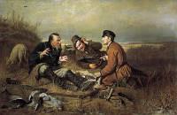 """Картина гобеленовая """"Охотники на привале"""""""