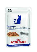 Royal Canin Neutered Weight Balance (пауч) - для кастрированных котов/кошек до 7 лет, склонных к полноте 0,1кг