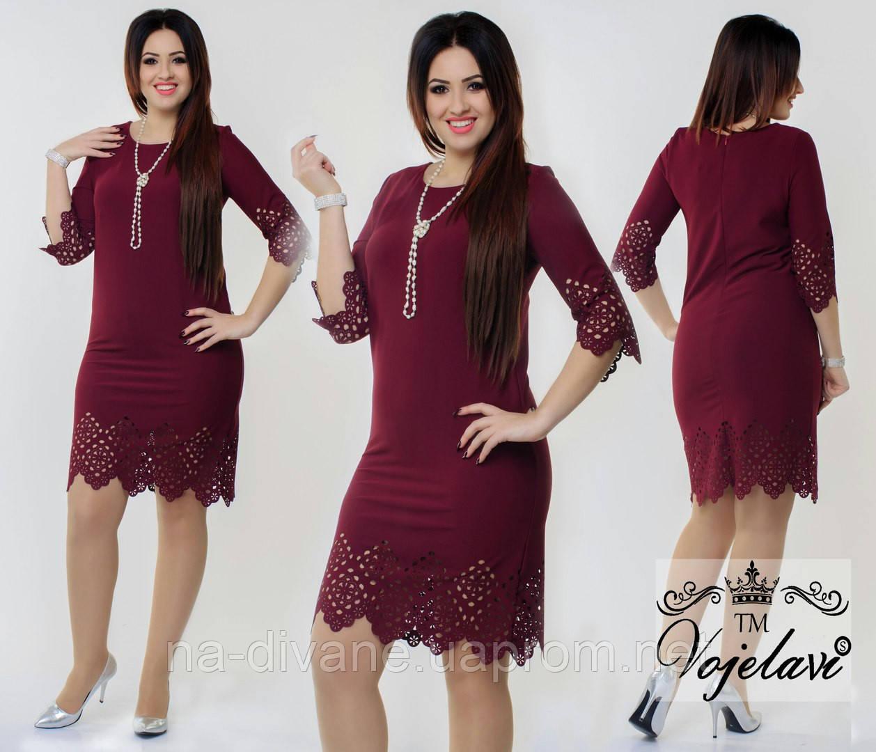 a6d000c9a9c94e4 Платье с перфорацией 426 Багет - Женская, мужская и детская одежда оптом от  Интернет-