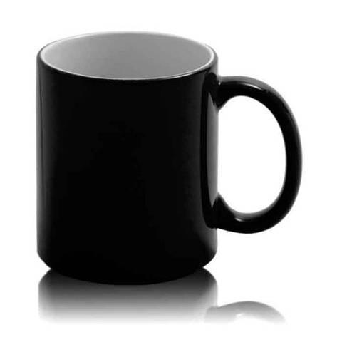 Цветная кружка хамелеон для сублимации Colour Changing Mug, черная