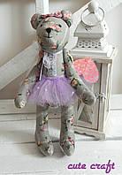 Мягкaя игрушкa мишка девочка handmade