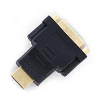 Переходник A-HDMI-DVI-3, HDMI папа /DVI мама, позолочені контакти
