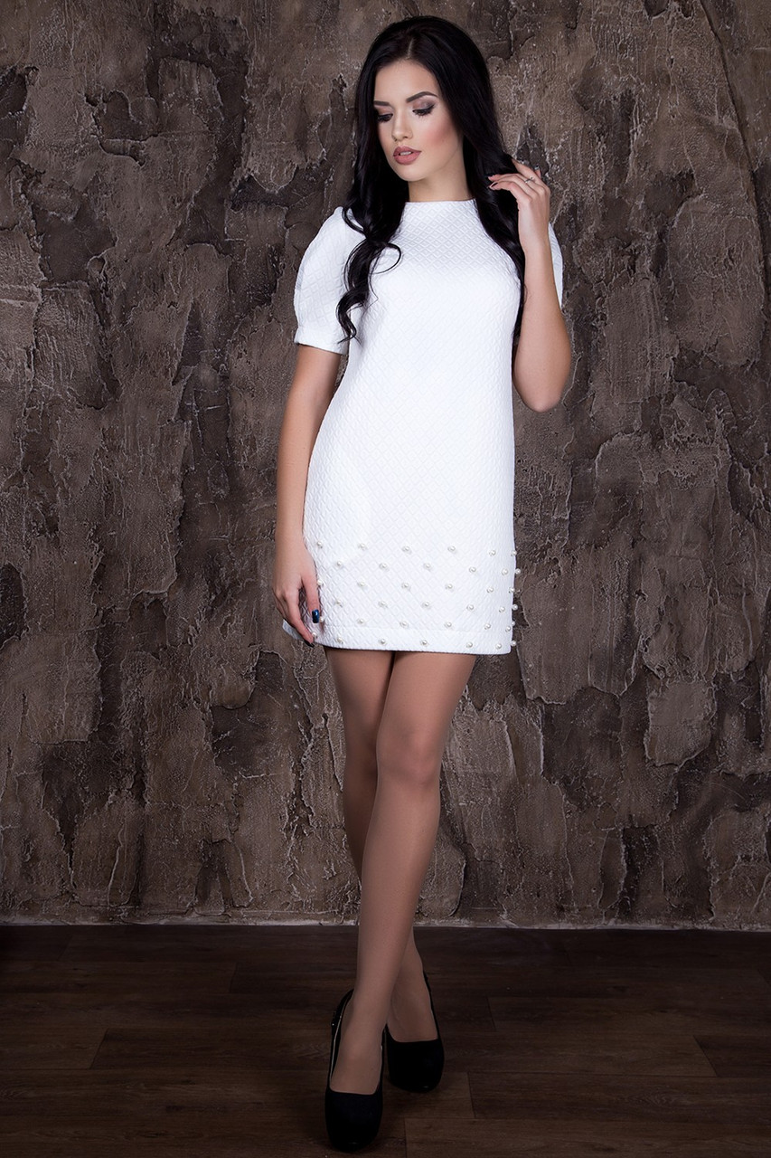 Красивое платье с бусинками в 5ти цветах - ROMA MODA в Харькове