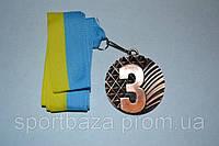 Медаль наградная с лентой. 3 место 01108. Медаль спортивна